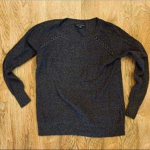 American Eagle Ribbed Knit Purple Sweater S